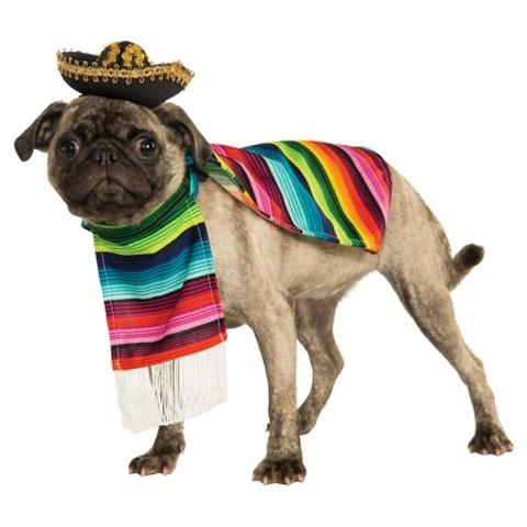 Rubies Poncho and Sombrero Dog Costume