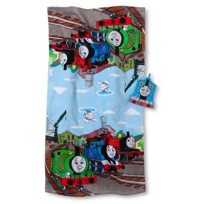 Thomas the Tank Bath Towel/Wash Mitt Set - Blue