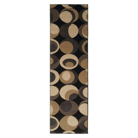 Multi-Toned Oval Rug - Black/Beige