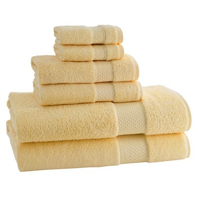 Kassatex Elegance Turkish Cotton 6pc Towel Set - Sunshine