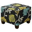 Seedling by Thomas Paul Square Ottoman - Garden Court Charcoal