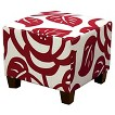 Seedling by Thomas Paul Square Ottoman - Dec Rose Red