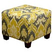 Seedling by Thomas Paul Square Ottoman - Palace Yellow