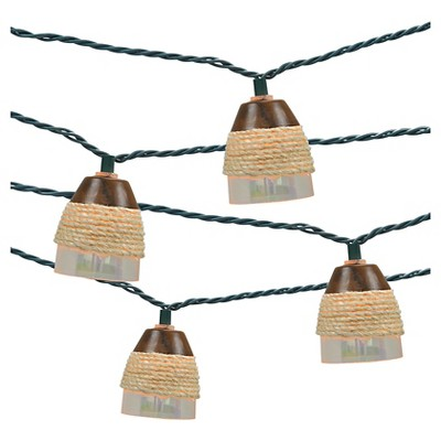 10ct Indoor/Outdoor String Light- Plastic Iridescent Cover With Rope - Threshold™
