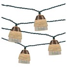 Threshold UL 10ct Indoor/Outdoor String Light,  Plastic Iridescent Cover With Rope