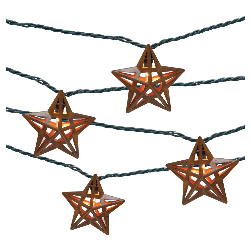 Jetmax String Lights : THRESHOLD UL 10CT INDOOR/OUTDOOR STRING LIGHT, METAL STAR COVER