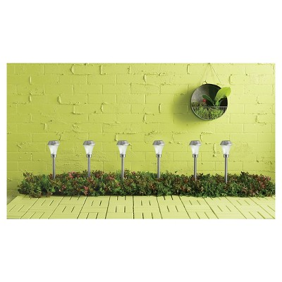 Outdoor Path Lights 6 Pk Silver - Room Essentials™