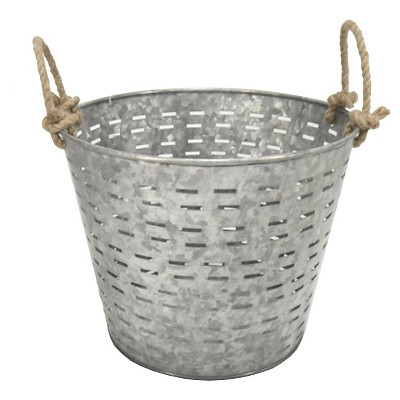 Threshold™ Galvanized Garden Basket