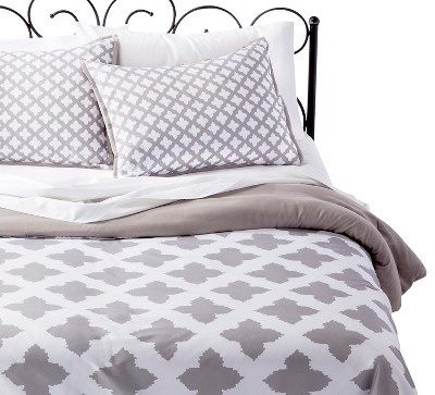 Xhilaration™ Star Reversible Comforter Set - Gray (Full/Queen)