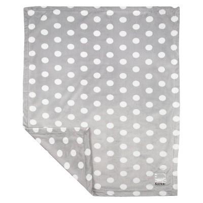 LOVE Silky Dot Blanket Giraffe - Silver