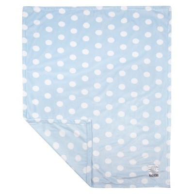 LOVE Silky Dot Blanket Giraffe - Blue