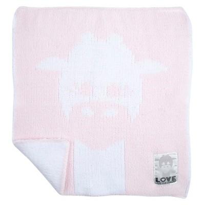 LOVE Cloud Knit Giraffe Blanky - Pink