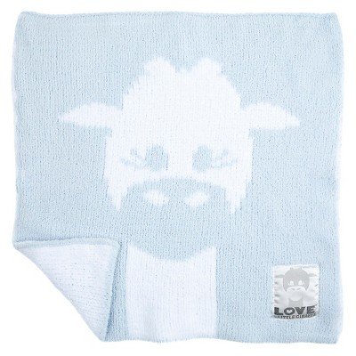 LOVE Cloud Knit Giraffe Blanky - Blue