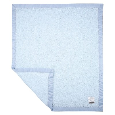 LOVE Cherish Satin Blanket Giraffe  - Blue
