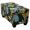 Seedling by Thomas Paul Storage Ottoman - Garden Court Charcoal