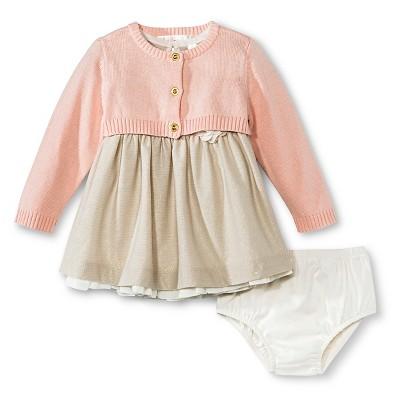 Cherokee® Newborn Girls Dress Set - Chai 0-3 M