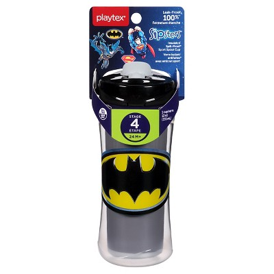 Playtex Sipsters Stage 4 Sport Spout Batman Insulated Cup 12oz 1 Pack