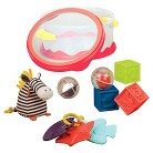 Baby B. Bath Toy Play Time Set Red
