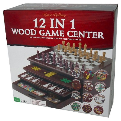 12-in-1 Wood Game Set
