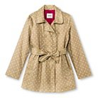 Girls' Polka Dot Belted Trench Coat