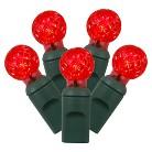 """100ct G12 String Light Set - Red (4""""x34'L)"""