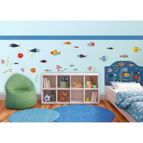 WallPops Fish Tales Room D Cor Kit Multicolor Product Details