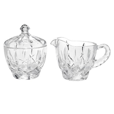 Gorham Lady Anne Crystal Sugar and Creamer Set