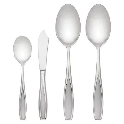 Gorham Tulip Frosted 4-piece Flatware Serving Set