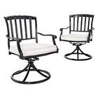 Premium Kentfield 2-Piece Aluminum Patio Swivel Dining Chair Set - Smith & Hawken™