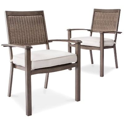 Premium Edgewood 2pk Aluminum Dining Chairs - Smith & Hawken™