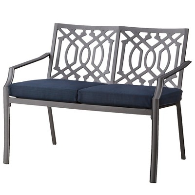 Harper Metal Patio Garden Bench - Navy - Threshold™