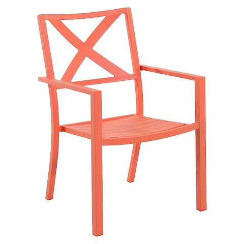 Target Stacking Chairs Threshold™ Afton Metal Stacking Chair Coral product details page
