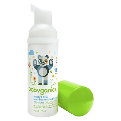Babyganics Alcohol-Free On-The-Go Foaming Hand Sanitizer, Fragrance Free - 1.69oz Pump Bottle
