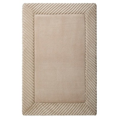 Home Circle Memory Foam Bath Mat - Light Taupe (17x24 )