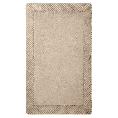 Home Circle Memory Foam Bath Mat - Light Taupe (20x34 )