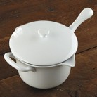 CHEFS 32 oz. Porcelain Butter Warmer - White