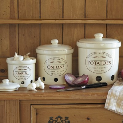 Ecom Food Storage Canister Set Chefs Off White