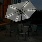 9' Solar Lighted Umbrella