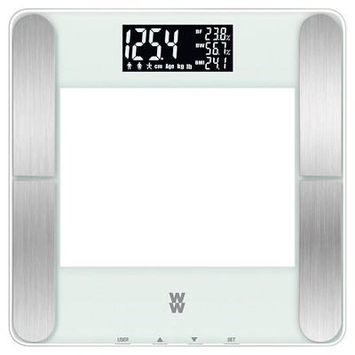 Weight Watchers Body Fat Scale - White w/ Backlight