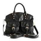 Moda Luxe Satchel Handbag with Removable Strap - Black