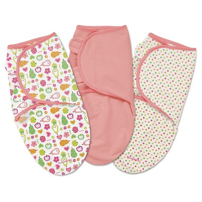 SwaddleMe® 3-pack-Fun Fruits (Small-Medium)