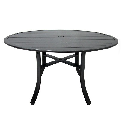 threshold camden metal 48 round patio dining table product details