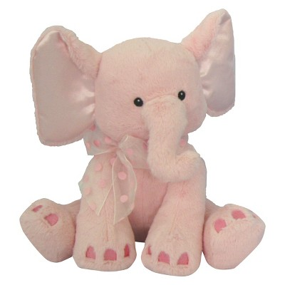 "First & Main Kelly Elephant Plush Toy - Pink (8"")"