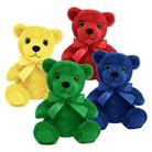 "First & Main 4 Piece Rainbow Bear Plush Toy Collection - Red/ Blue/ Green/ Yellow (6"")"