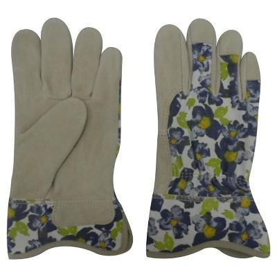 Threshold Split Leather Gloves - Blue Floral