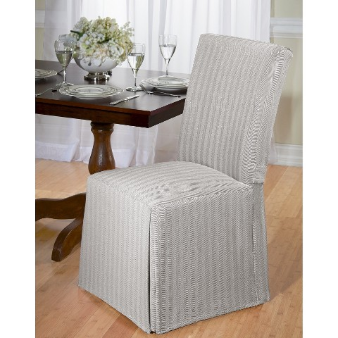 herringbone dining room chair slipcover product details page