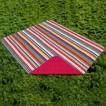 Outdoor Picnic Blanket Multi Stripe - Multicolored