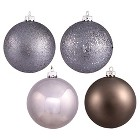 "2.75"" Assorted Ornament Ball - Pewter (20 Per Box)"