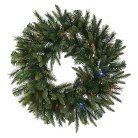 "42"" Cashmere Wreath - Multicolored Lights"