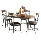 Cameron X-Back Chair and Rectangle Dining Table Set Metal/Brown (5 Piece Set) - Hillsdale Furniture